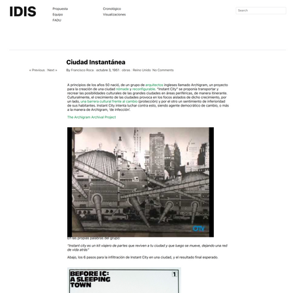 Ciudad Instantánea | IDIS