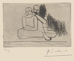 Couple at the Shore, 1925 (printed in 1961) Pablo Picasso