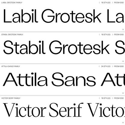 Retail ( KOMETA ) Typefaces