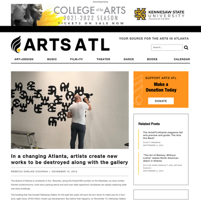 In a changing Atlanta, artists create new works to be destroyed along with the gallery - ARTS ATL