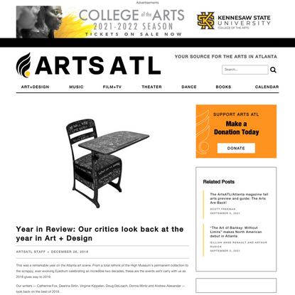 Year in Review: Our critics look back at the year in Art + Design - ARTS ATL