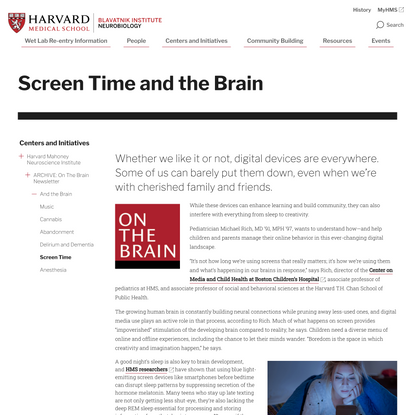 Screen Time and the Brain