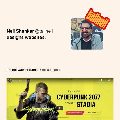 Neil Shankar •@tallneil