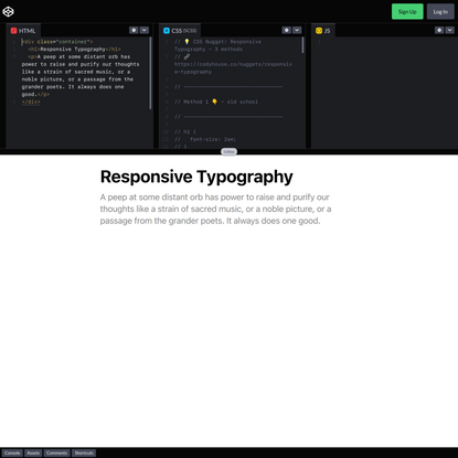 CSS Nugget: Responsive Typography