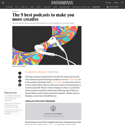 The 9 best podcasts to make you more creative