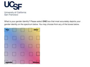 Gender spectrum UI