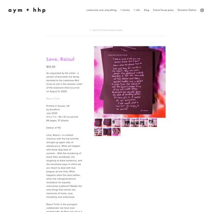 Love, Raisul — aym + hhp