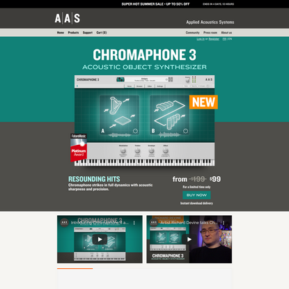AAS Chromaphone 3 acoustic object synthesizer VST AU AAX