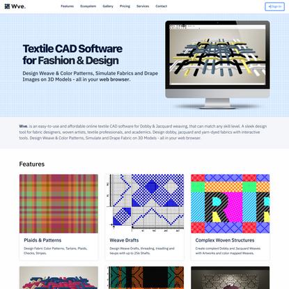 Wve - Online Textile CAD Software for Fashion & Design