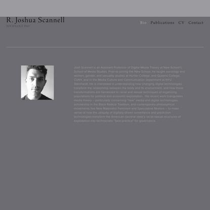 R. Joshua Scannell