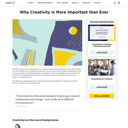 Why Creativity Is More Important than Ever