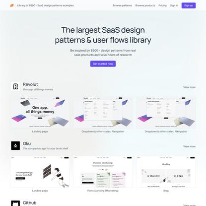 SaaS design patterns library