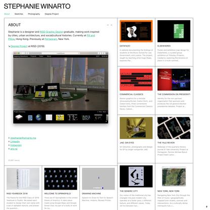 About - Stephanie Winarto