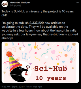 🎂 🎉  Sci-Hub