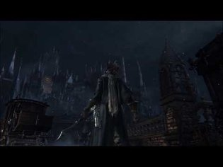 Bloodborne - Central Yharnam Ambiance (footsteps and bell tower, white noise, relaxation)