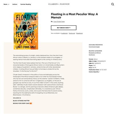Floating in a Most Peculiar Way: A Memoir | HMH Books