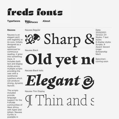 typefaces — FredsFonts