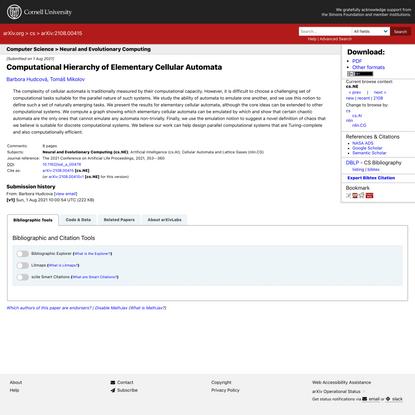 Computational Hierarchy of Elementary Cellular Automata