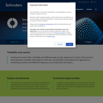 Welcome to Schroder's Investment Trusts