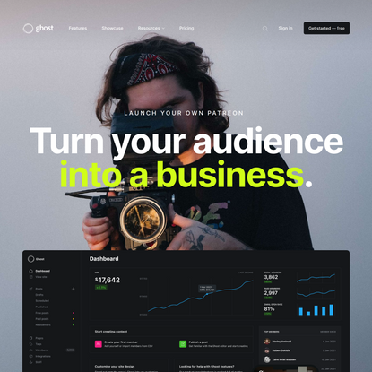 Ghost: Turn your audience into a business