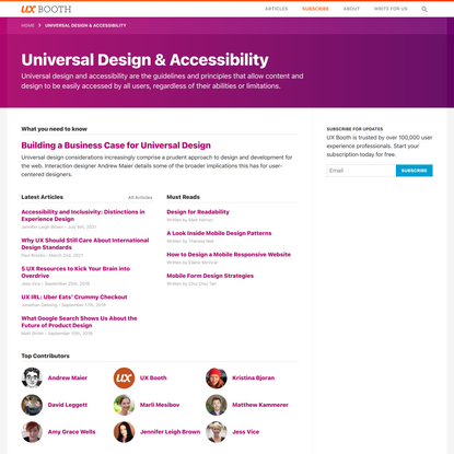 Universal Design & Accessibility | UX Booth