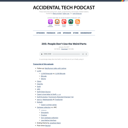 ATP 205: People Don't Use the Weird Parts — Accidental Tech Podcast
