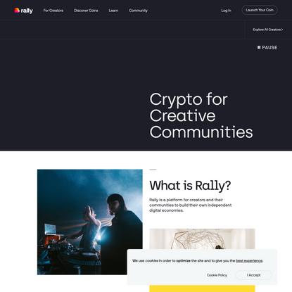 Crypto for Creative Communities