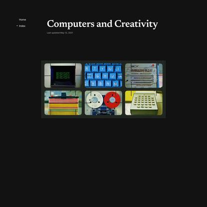 Computers and Creativity — Molly Mielke