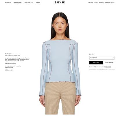 Baserange - Blue Omato Long Sleeve T-Shirt