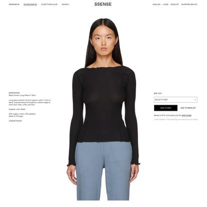 Baserange - Black Omato Long Sleeve T-Shirt