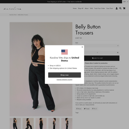 Belly Button Trousers