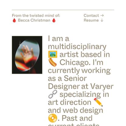 Becca Christman Cool Website