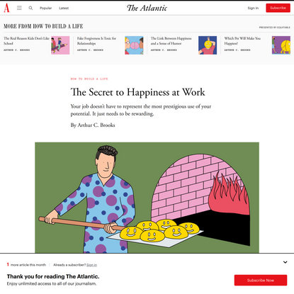The Secret to Happiness at Work