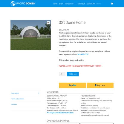 30ft Dwell Dome On Sale   Pacific Domes Online Store