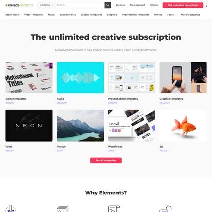 Envato Elements: Unlimited Stock Videos, Music, Photos & Graphics