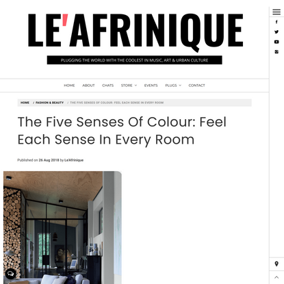The Five Senses Of Colour: Feel Each Sense In Every Room