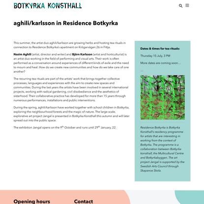 aghili/karlsson i Residence Botkyrka - Botkyrka konsthall