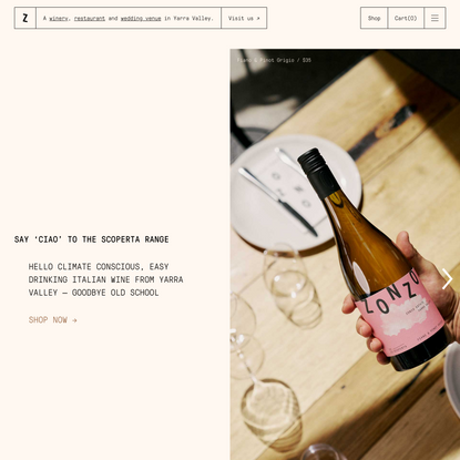 Zonzo—A Yarra Valley Winery, Restaurant & Wedding Venue