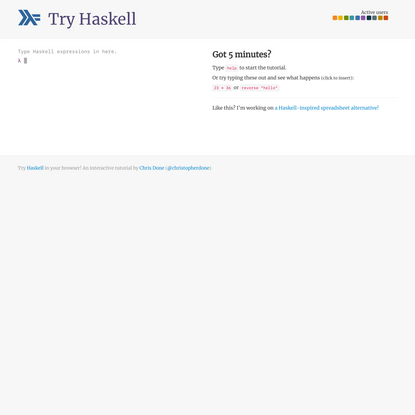 Try Haskell! An interactive tutorial in your browser