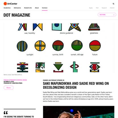 Change Lab Podcast 29: Saki Mafundikwa and Sadie Red Wing on Decolonizing Design