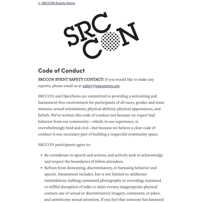 SRCCON — Our Code of Conduct