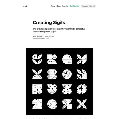 Creating Sigils • Blog • urbit.org