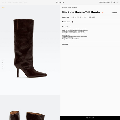 Corinne Brown Tall Boots // Miista Shoes // Made in Spain