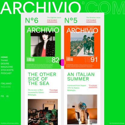 Archivio Magazine   Racconti, Storie, Immagini, Documenti, Fotografie. Segui l'attualità attraverso la lente archivistica e ...