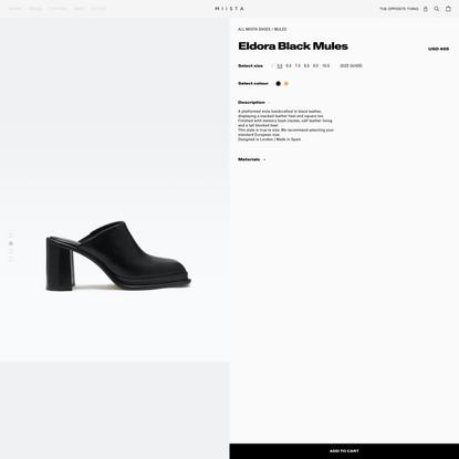 Eldora Black Mules // Miista Shoes // Made in Spain