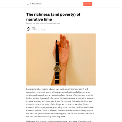 The richness (and poverty) of narrative time - by f [s] - The Leftovers