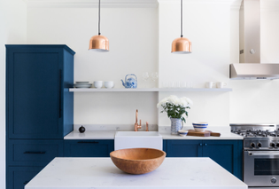 Kitchen in Queens rowhouse (designed by White Arrow, 2018)