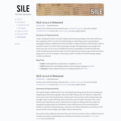 SILE – Home