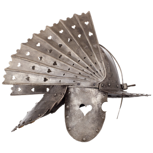 A Winged Hussar's Zischägge, Poland, ca. 18th century, housed at the Wawel Royal Castle State Art Collection.