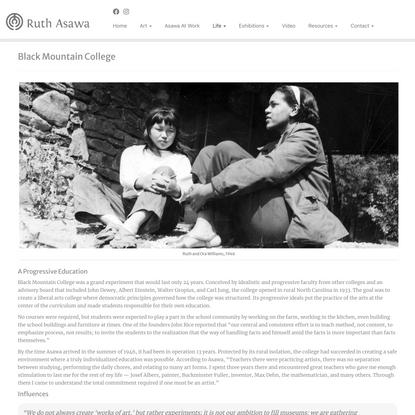 Black Mountain College - Ruth Asawa